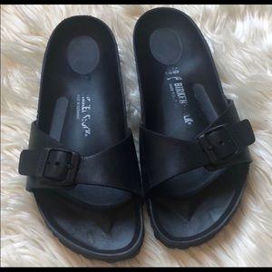 Black rubber Birkenstock Size 10 - gently used